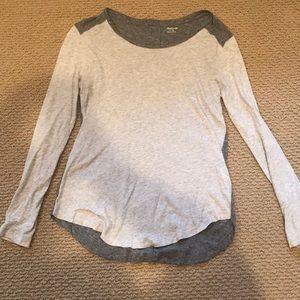 Madewell Two-Tone Basic Anthem Long-Sleeve T-Shirt